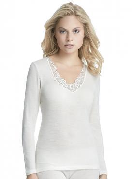 Woll Damen Unterhemd 1/1 Arm 7960831