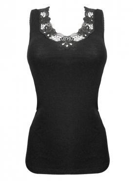 Woll Damen-Unterhemd ohne Arm 7960841
