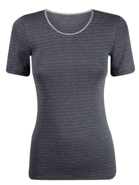 Sangora Damen Shirt Thermowäsche 7769459, 38, schwarz-geringelt schwarz-geringelt | 38
